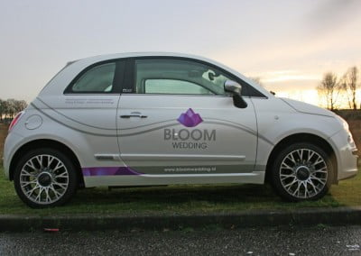 Ace Media Reclame Goirle Autobelettering (Bloom Wedding Fiat 500)