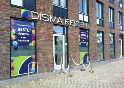 Ace Media Reclame Goirle Raam stickers one way vision (Disma Tilburg)