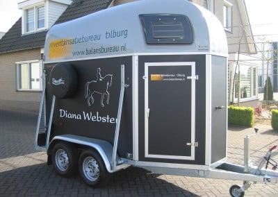 paarden trailer belettering