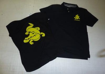 Transferen logo op polo shirt