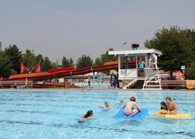 Zwembad tijd temp klok