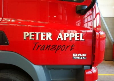 vrachtwagen stickers