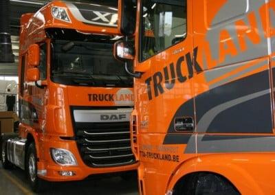 vrachtwagenbelettering truckland